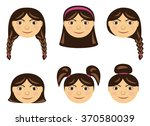 the girl's face with different... | Shutterstock .eps vector #370580039
