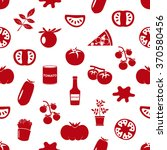 tomatoes theme simple icons red ... | Shutterstock .eps vector #370580456