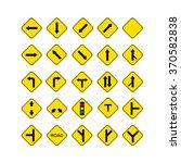 road sign yellow | Shutterstock . vector #370582838
