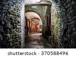 underground medieval wine... | Shutterstock . vector #370588496