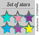 a set of stars. star. stars....   Shutterstock .eps vector #370589609