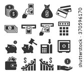 money and finance icon set | Shutterstock .eps vector #370596170