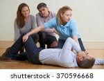 woman demonstrating recovery... | Shutterstock . vector #370596668