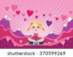 love dream land   pretty blond... | Shutterstock .eps vector #370599269