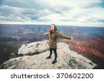 travel hiking photo of young... | Shutterstock . vector #370602200