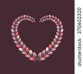 floral wreath in heart shape...   Shutterstock . vector #370602320