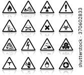 danger signs icon set ...   Shutterstock .eps vector #370602833