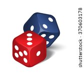 vector red and blue dices...   Shutterstock .eps vector #370603178