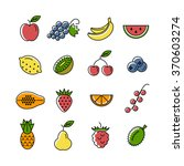 line icon collection. set of... | Shutterstock . vector #370603274