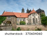river side of magdeburg... | Shutterstock . vector #370604060