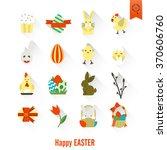 celebration easter icons   Shutterstock . vector #370606760