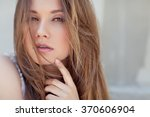 beautiful woman | Shutterstock . vector #370606904