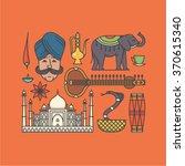 vector illustration icon set of ... | Shutterstock .eps vector #370615340