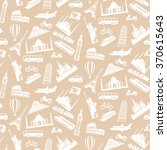 travel seamless pattern with... | Shutterstock .eps vector #370615643