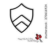 web line icon. shield. | Shutterstock .eps vector #370616924