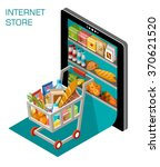 internet shop | Shutterstock .eps vector #370621520