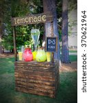 Small photo of An adorable summer lemonade stand.