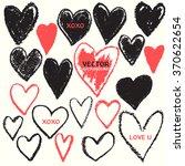 heart shape chalk vector... | Shutterstock .eps vector #370622654