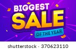 biggest sale banner. sale and... | Shutterstock .eps vector #370623110