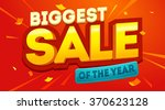 biggest sale banner. sale and... | Shutterstock .eps vector #370623128