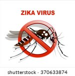 caution of mosquito icon ... | Shutterstock .eps vector #370633874