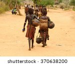 local ethiopian people coming... | Shutterstock . vector #370638200