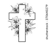 Cross With White Lillies....