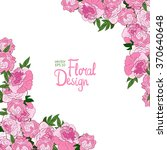 vector corner or spring floral...   Shutterstock .eps vector #370640648