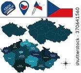 vector map of czech republic... | Shutterstock .eps vector #370641560