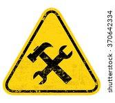 under construction sign. grungy ... | Shutterstock .eps vector #370642334