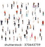 standing together office... | Shutterstock . vector #370643759