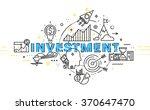 flat style  thin line art... | Shutterstock .eps vector #370647470