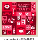 vector card of valentine day.... | Shutterstock .eps vector #370648424