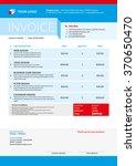 business invoice template....   Shutterstock .eps vector #370650470