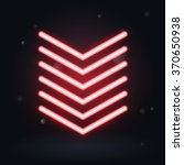 vector red glowing arrows on... | Shutterstock .eps vector #370650938
