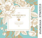 valentine's card with vintage...   Shutterstock .eps vector #370652213