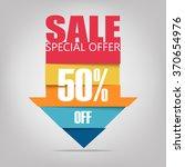 super sale arrow banner. big... | Shutterstock .eps vector #370654976