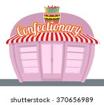 confectionary sweets shop.... | Shutterstock .eps vector #370656989