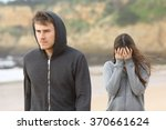 teenager couple breaking up.... | Shutterstock . vector #370661624