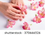 beautiful female fingers with... | Shutterstock . vector #370666526