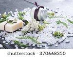 cosmetic cream  soap and bath... | Shutterstock . vector #370668350