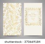 gold ornate frame for... | Shutterstock .eps vector #370669184