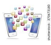 vector illustration of mobile... | Shutterstock .eps vector #370673180
