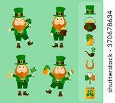 saint patrick's day set. four... | Shutterstock .eps vector #370678634