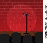 stand up comedy open mic | Shutterstock .eps vector #370680704