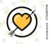 heart logo with a fork on a ...   Shutterstock .eps vector #370680998