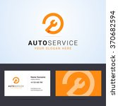 logo and business card template ... | Shutterstock .eps vector #370682594
