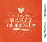 valentine's day illustration | Shutterstock .eps vector #370683284
