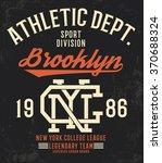 college new york brooklyn... | Shutterstock .eps vector #370688324