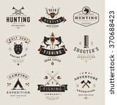 set of hunting and fishing... | Shutterstock .eps vector #370688423